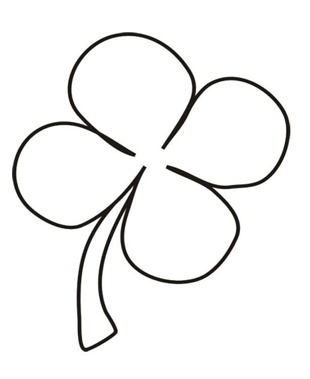 four leaf clover coloring page - post four leaf clover coloring page