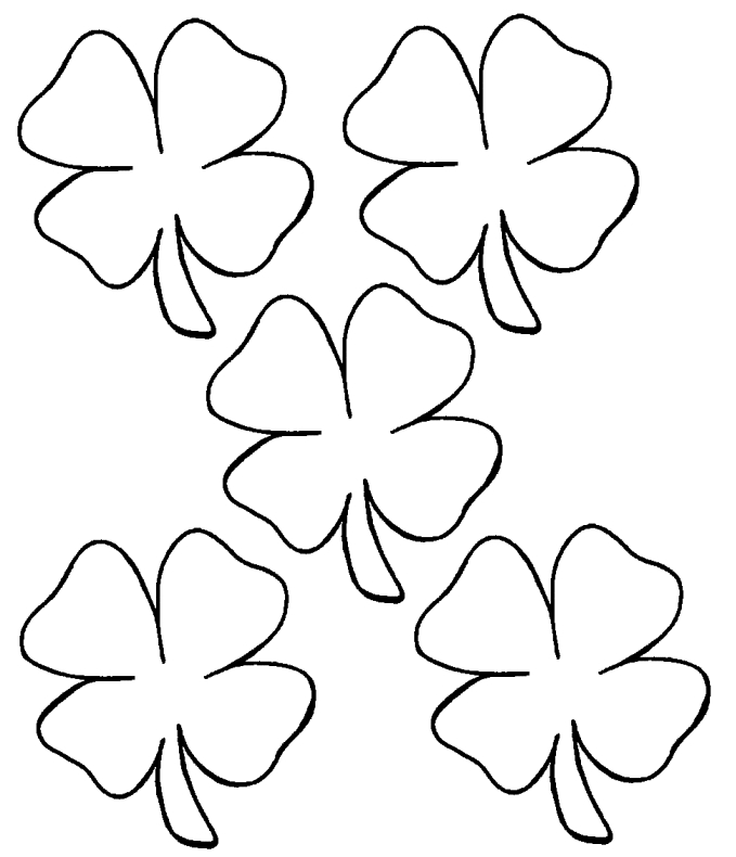 Four Leaf Clover Coloring Page - Clover Coloring Page & Coloring Book