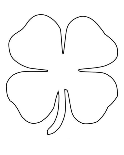 four leaf clover coloring page -