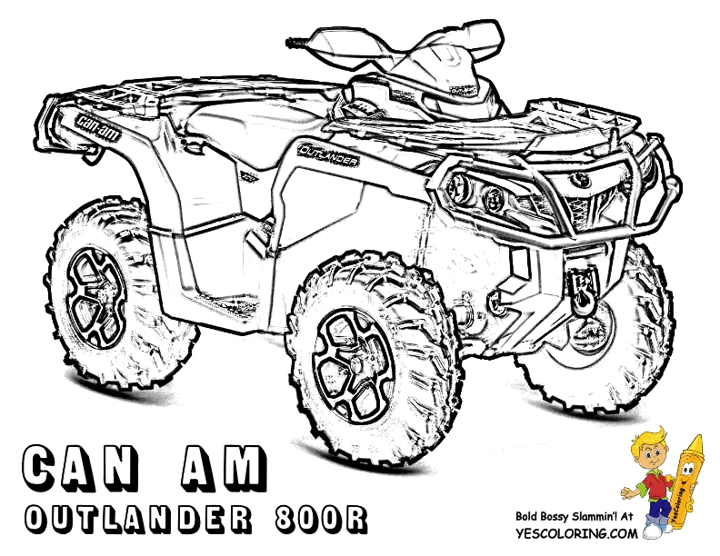 four wheeler coloring pages - atv coloring pages