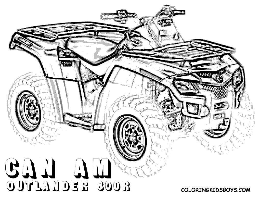 four wheeler coloring pages -