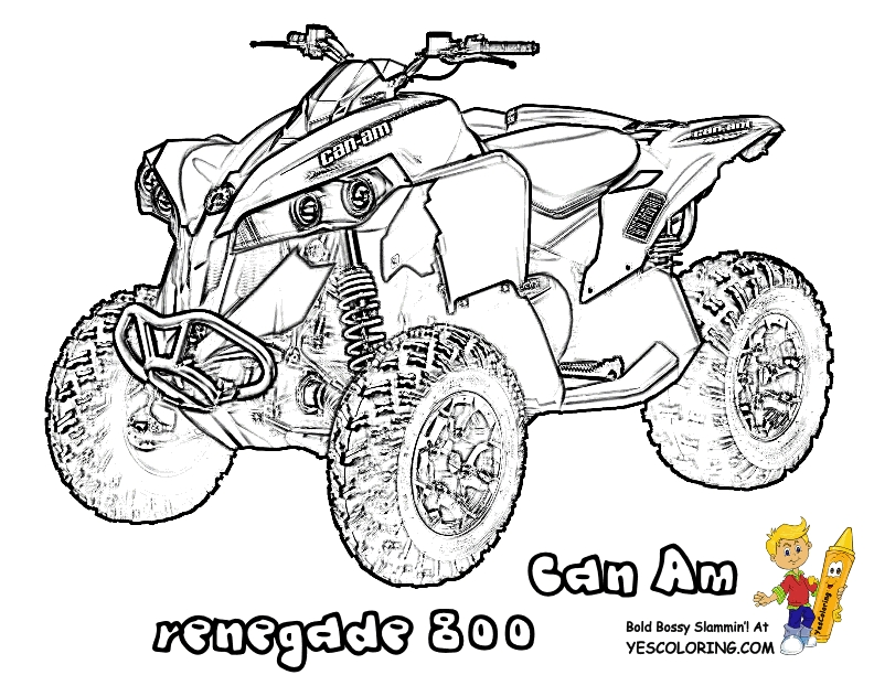 four wheeler coloring pages - 4 wheeler coloring page
