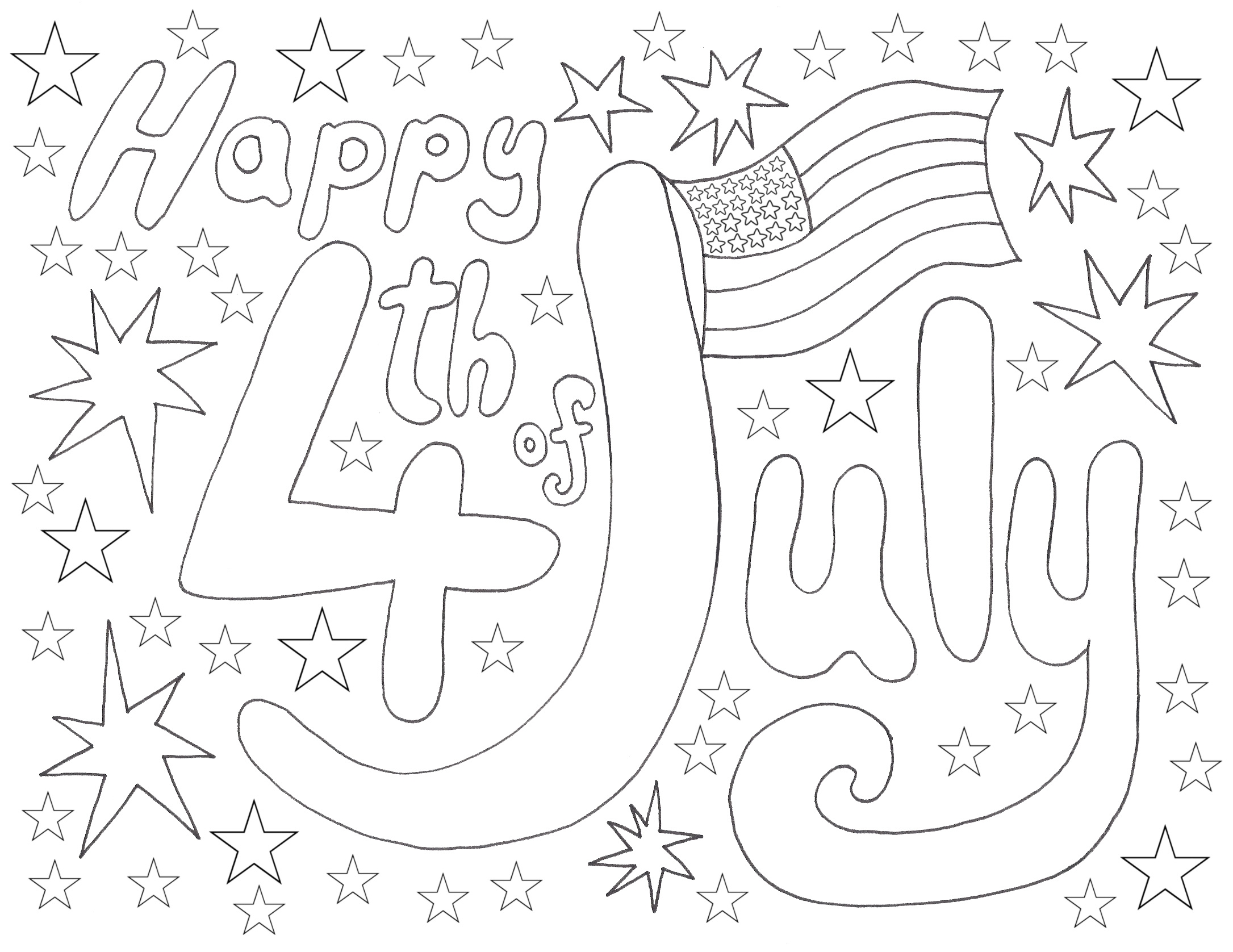 Fourth Of July Coloring Pages - 28 Fourth July Coloring Page