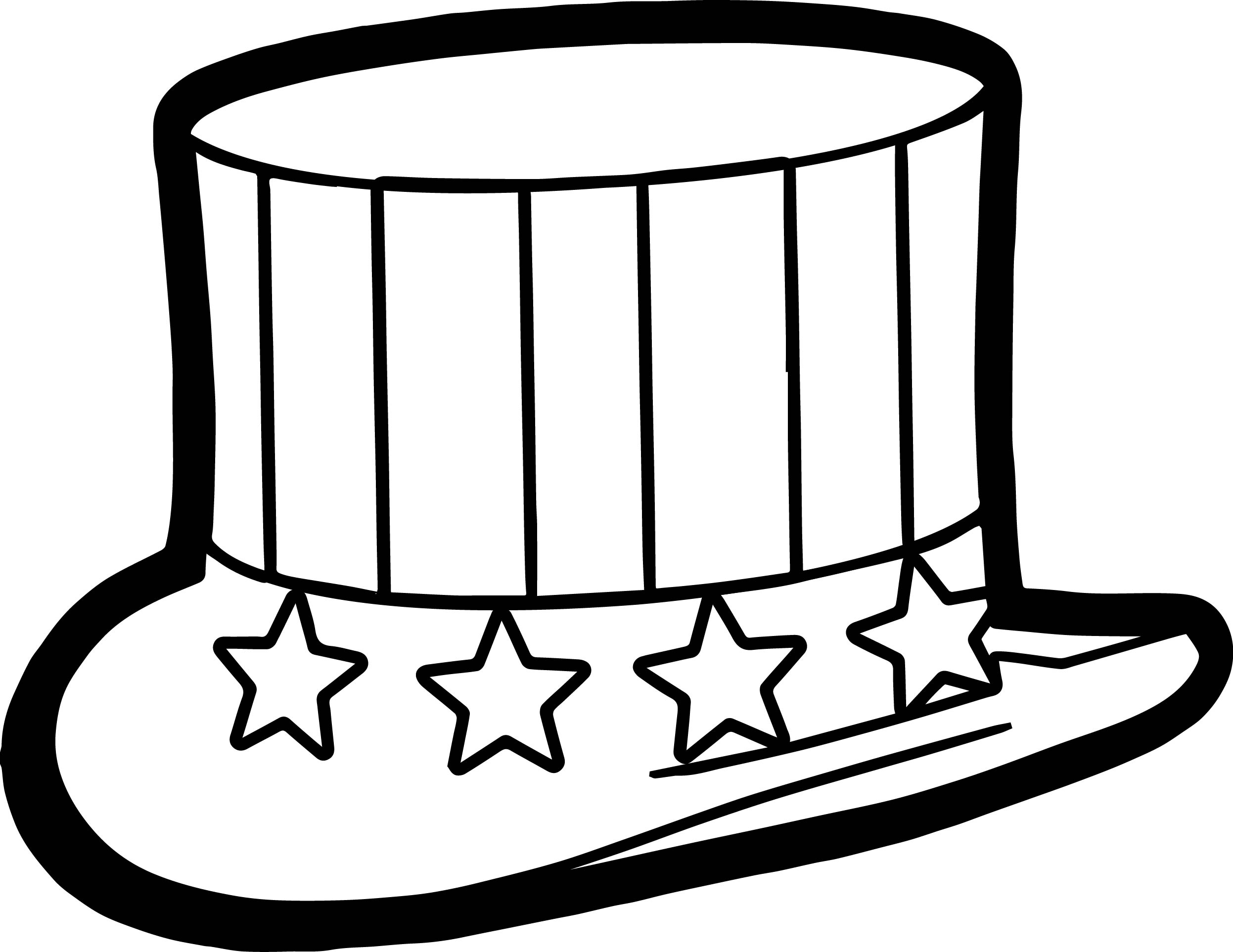 Fourth of july coloring pages 4th july hat coloring page