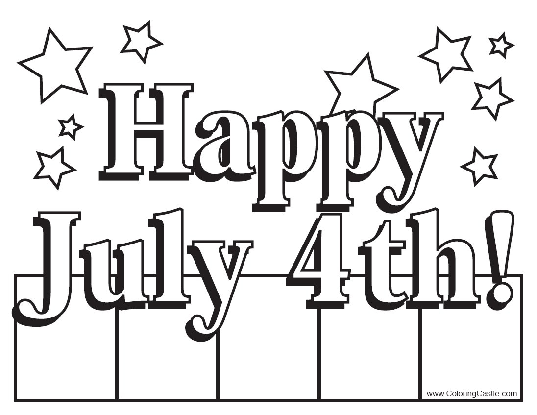fourth of july coloring pages - 4th of july coloring pages