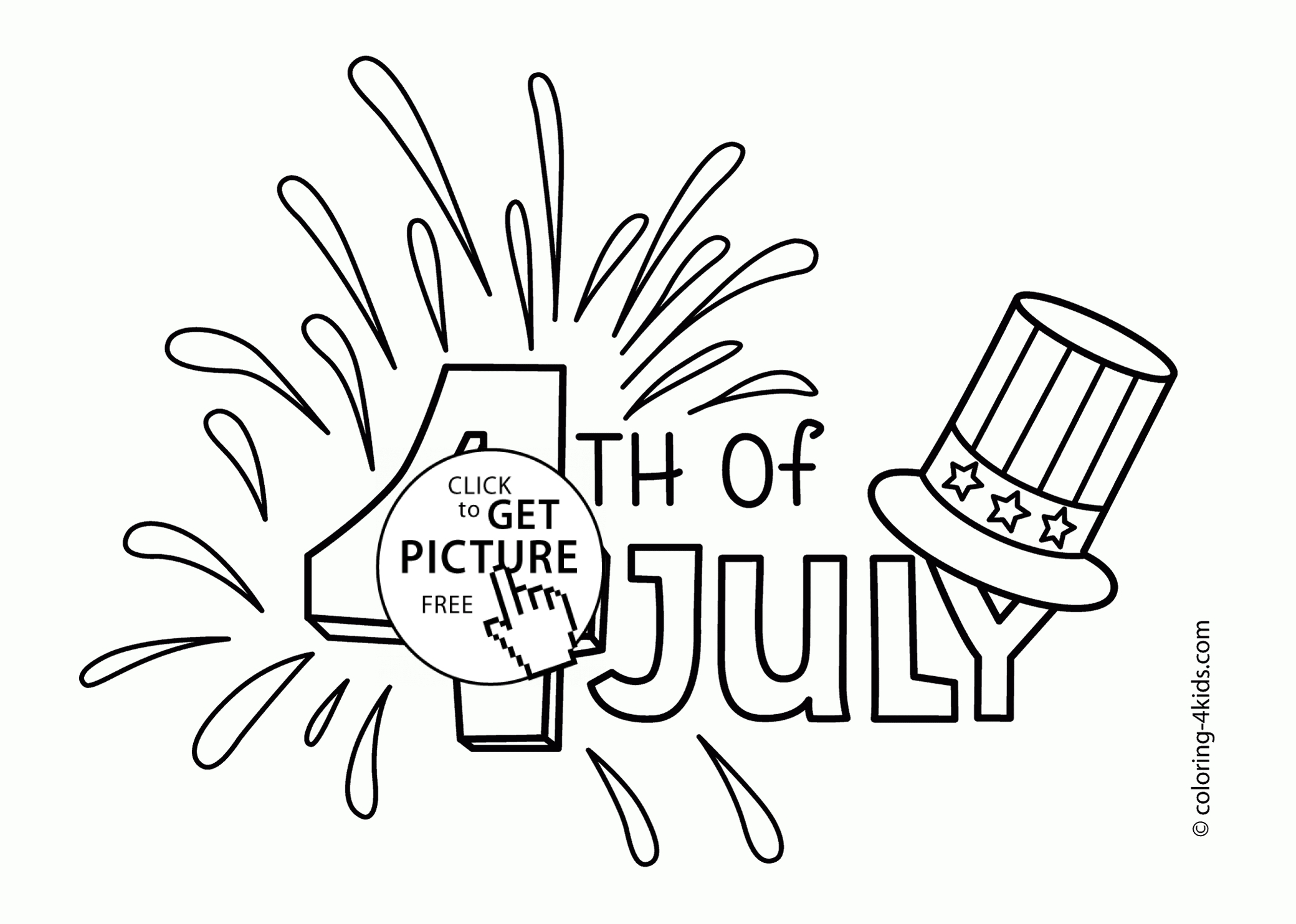 fourth of july coloring pages - fourth of july coloring pages