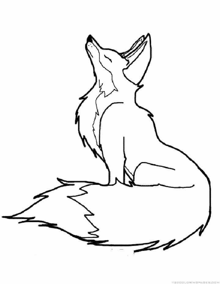fox coloring pages - animated fox for coloring sketch templates