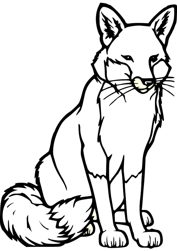fox coloring pages - free fox coloring sheets
