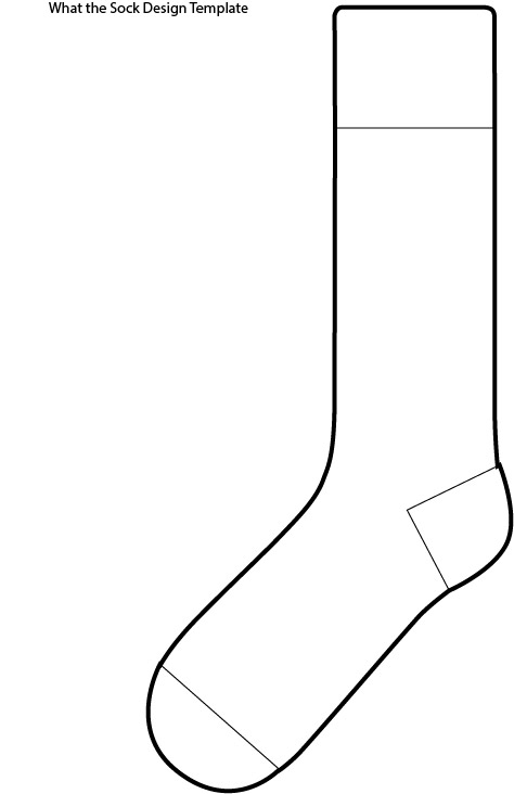 fox in socks coloring page - post socks outline template