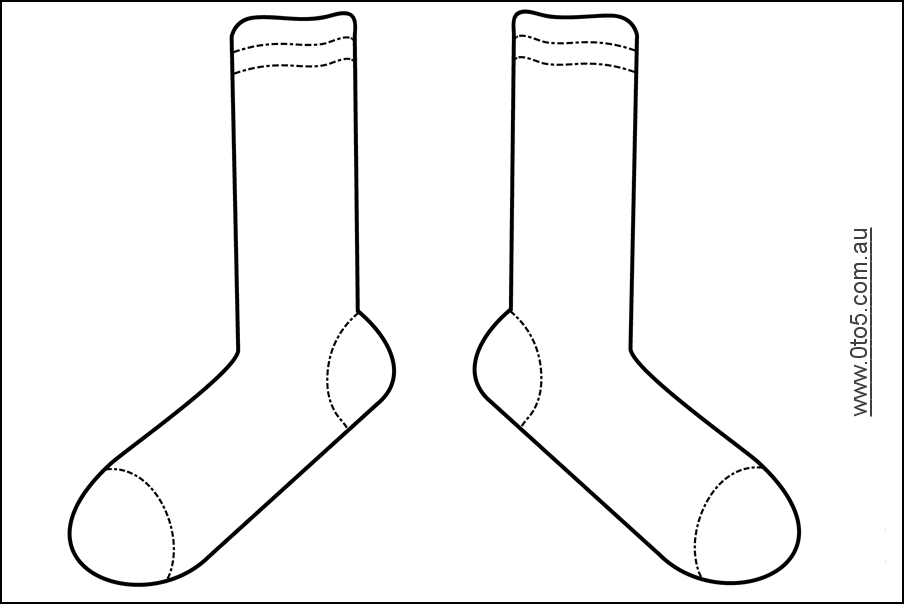 fox in socks coloring page -