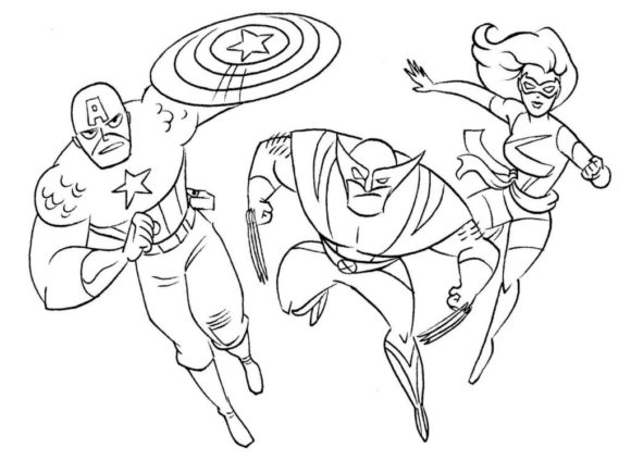 foxy coloring pages - foxy superhero coloring pages for kids