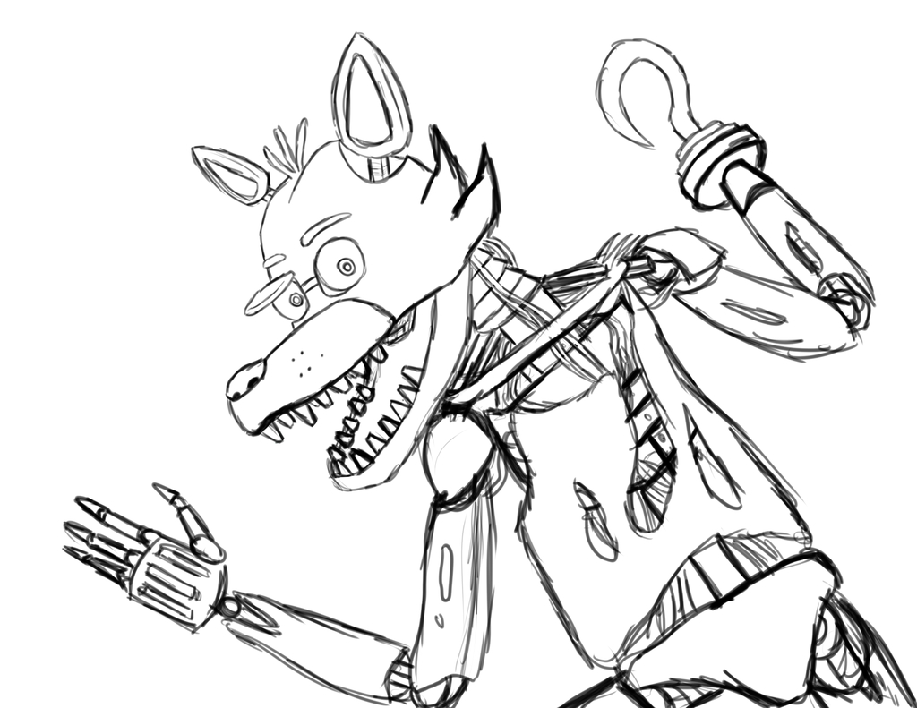 foxy coloring pages - foxy five nights at freddys