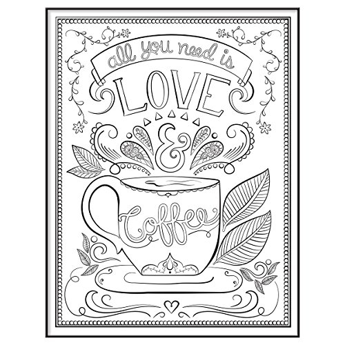 Framed Coloring Pages - Mcs Time Out Color In Framed Adult Coloring Page with Love