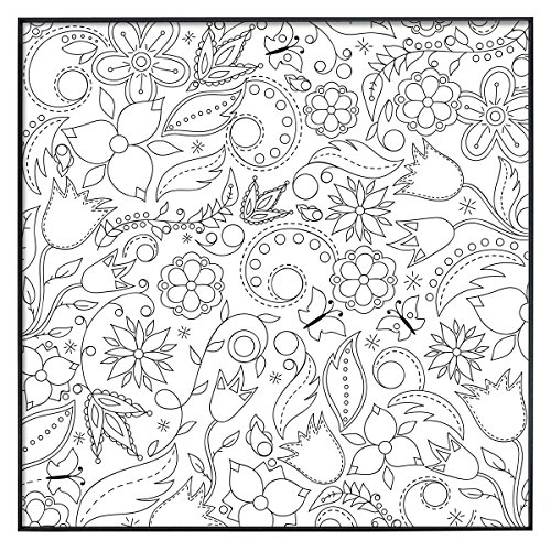 framed coloring pages - mcs time out color in framed adult coloring page with floral whimsy design includes mcs format frame 12 by 12 inch
