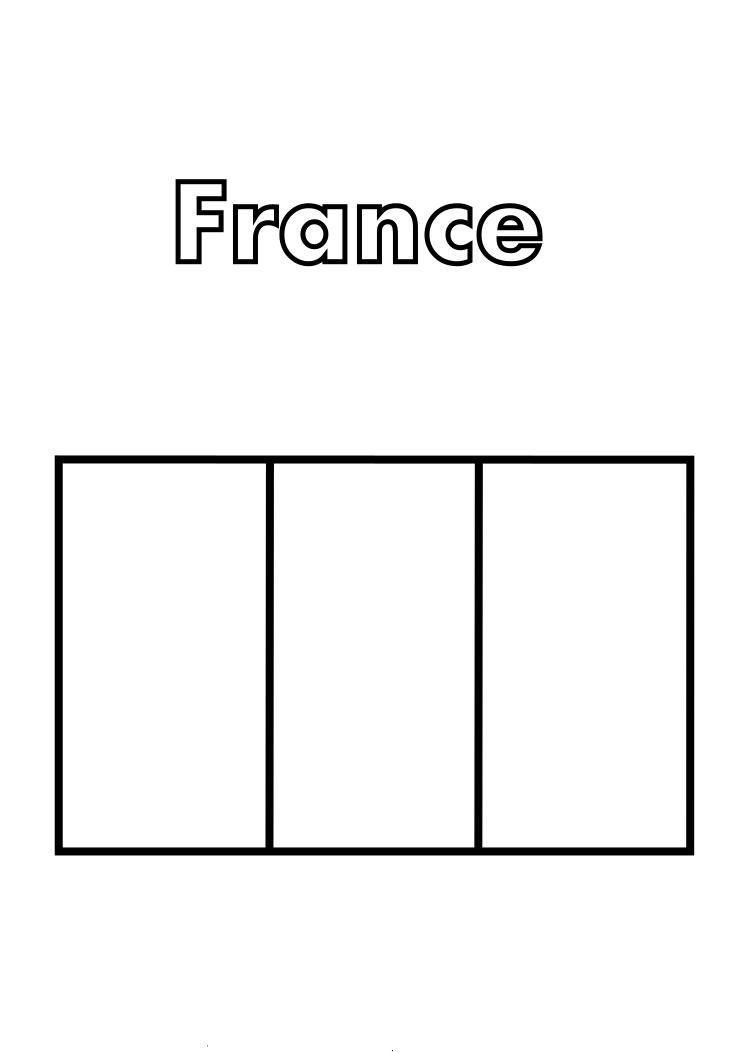 France Flag Coloring Page - France Flag Coloring