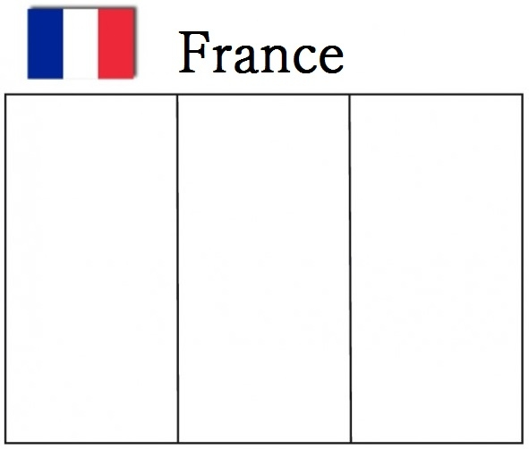 france flag coloring page - france flag coloring page