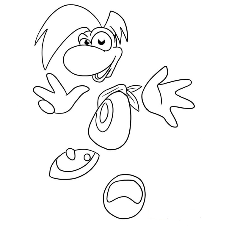 frankenstein coloring pages - coloriage rayman origins