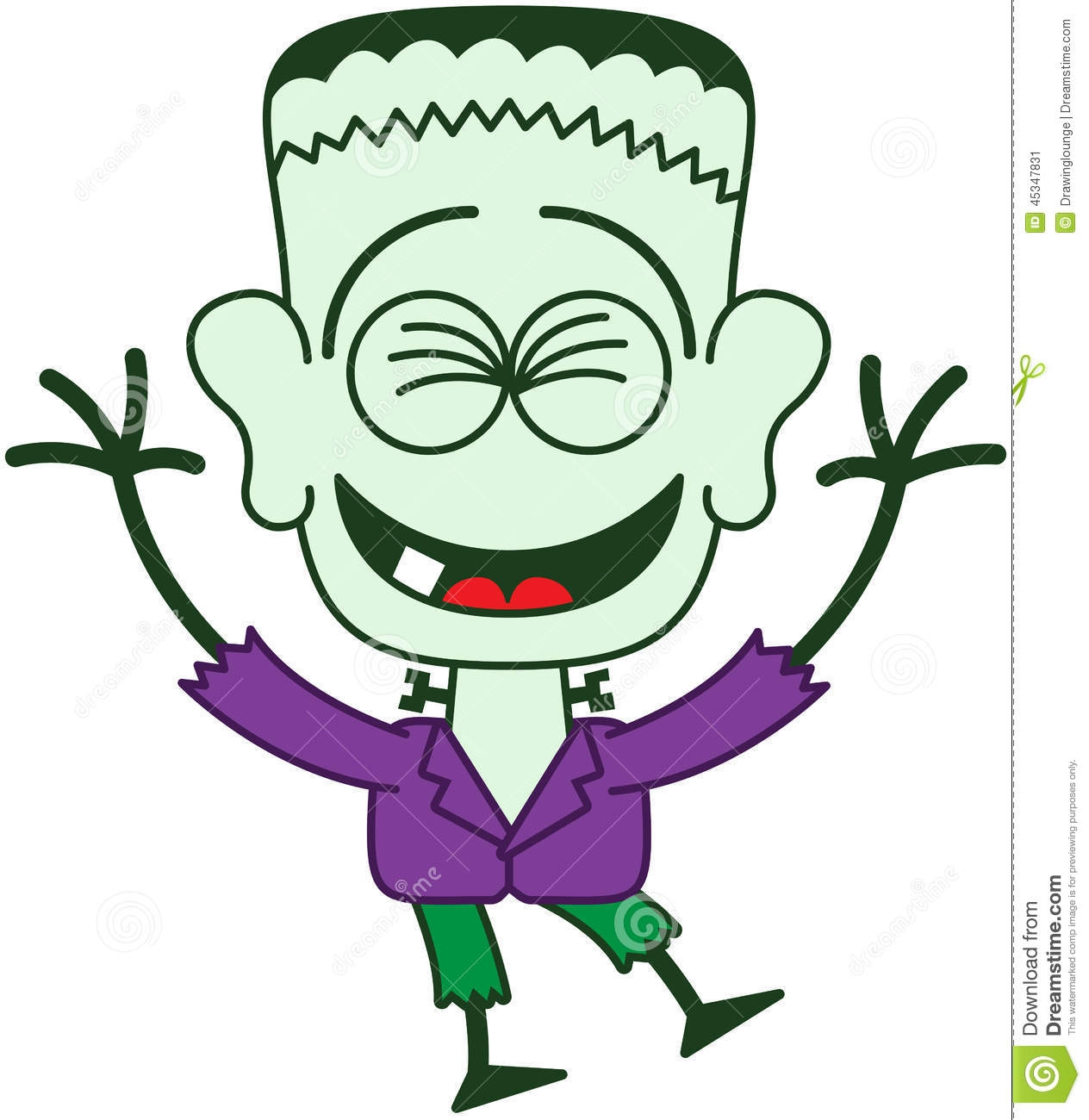 frankenstein coloring pages - stock illustration halloween frankenstein laughing enthusiastically cute monster minimalist style stitched wound his head bolts image