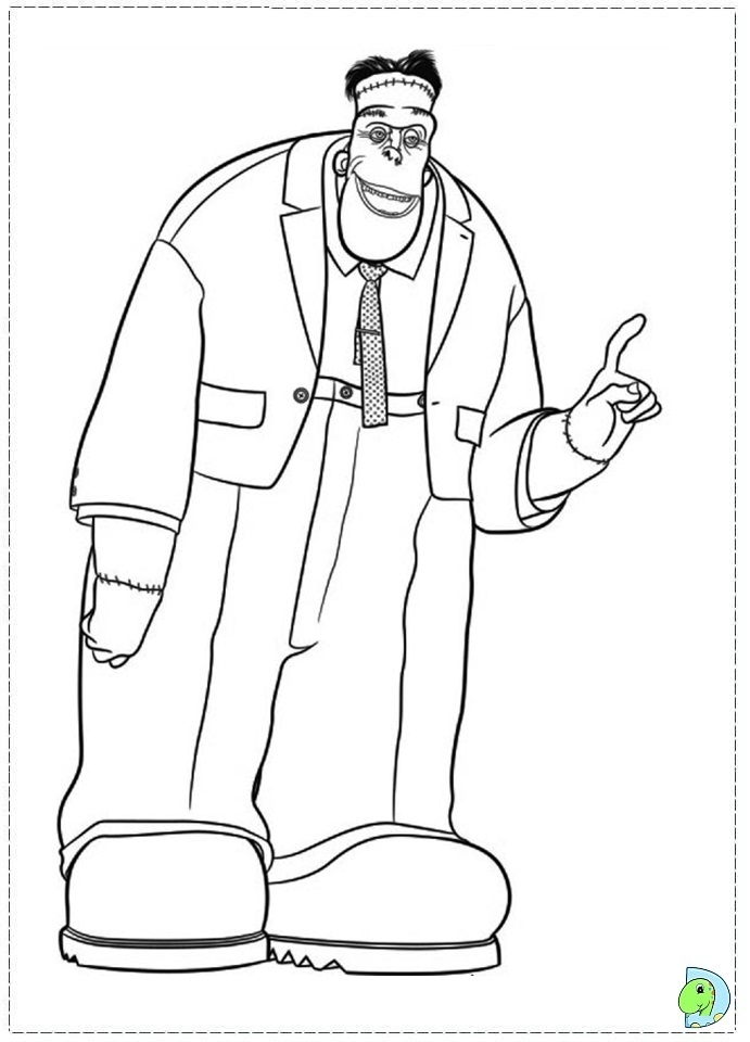 frankenstein coloring pages - 013 coloring hotel transylvania 20