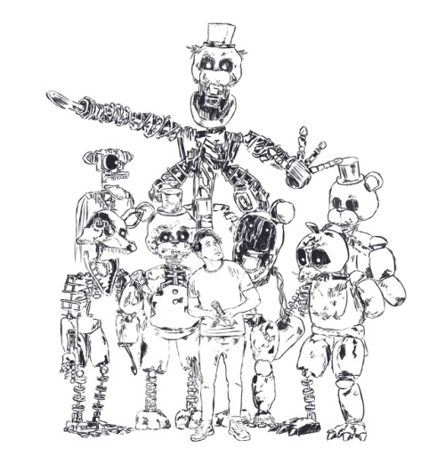 freddy coloring pages - wip fnaf