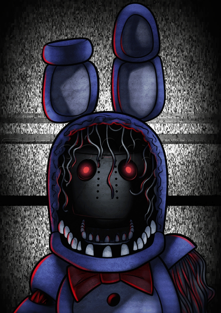 freddy fazbear coloring page - how to draw withered bonnie