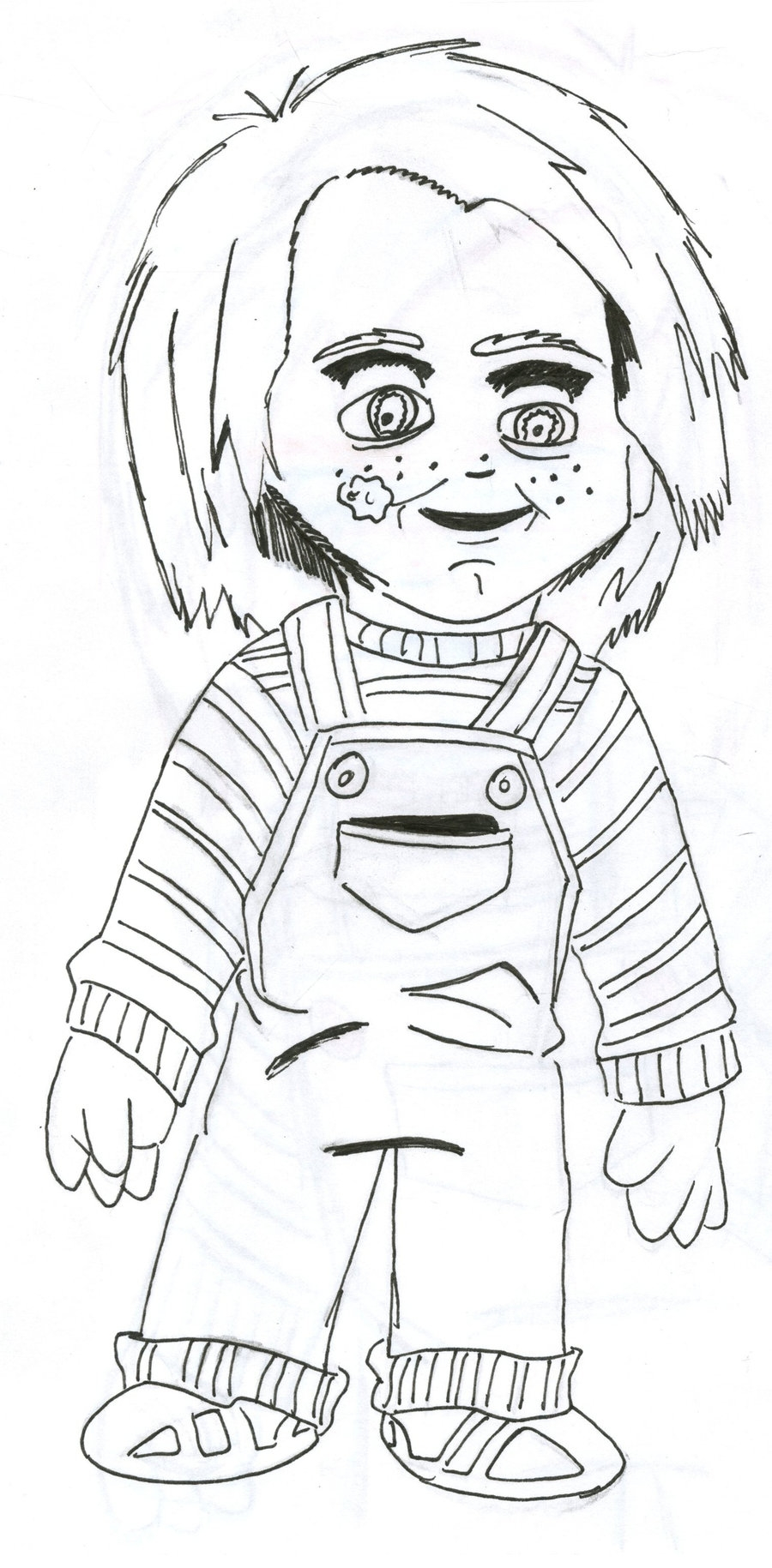 freddy krueger coloring pages - chucky coloring sheets 5 sketch templates