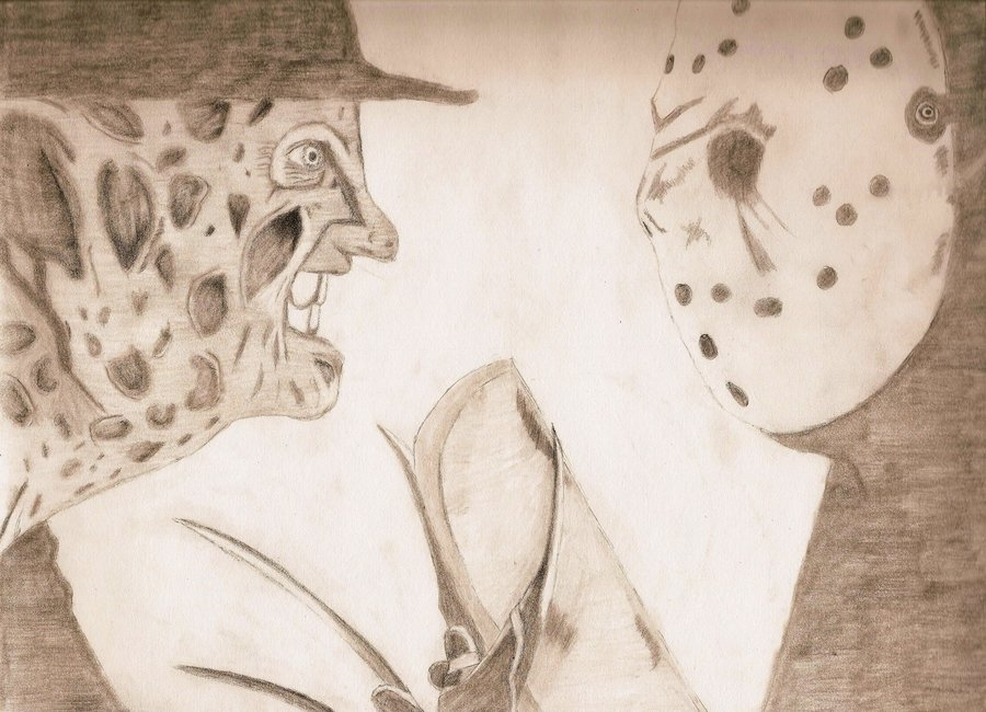 freddy krueger coloring pages - Freddy vs jason