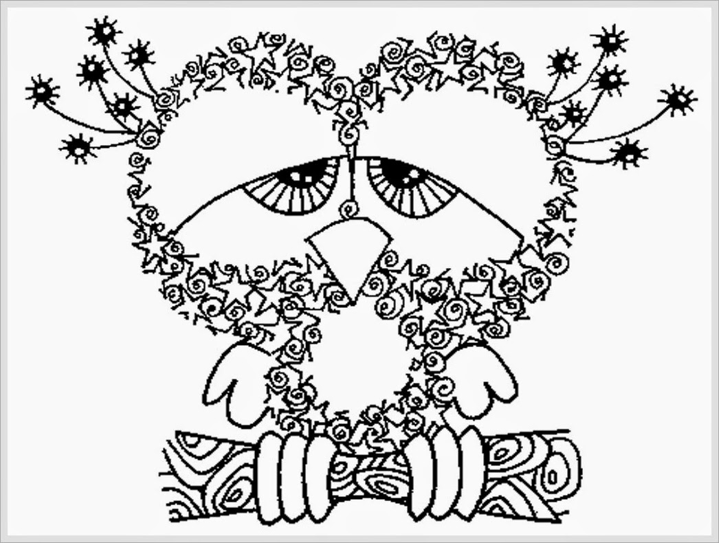 free adult coloring pages - owl adult free printable coloring pages