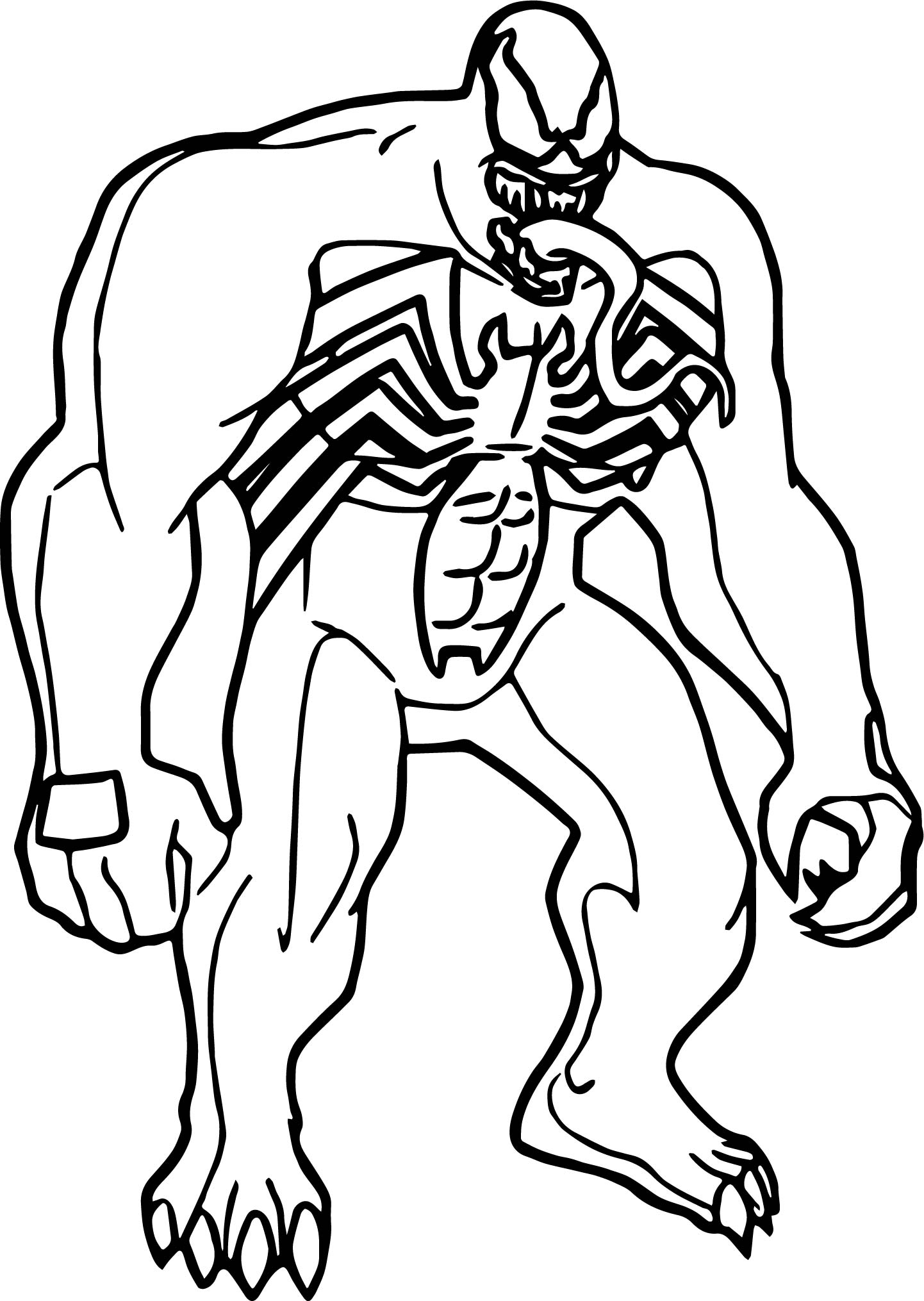 free adult coloring pages to print - venom coloring pages