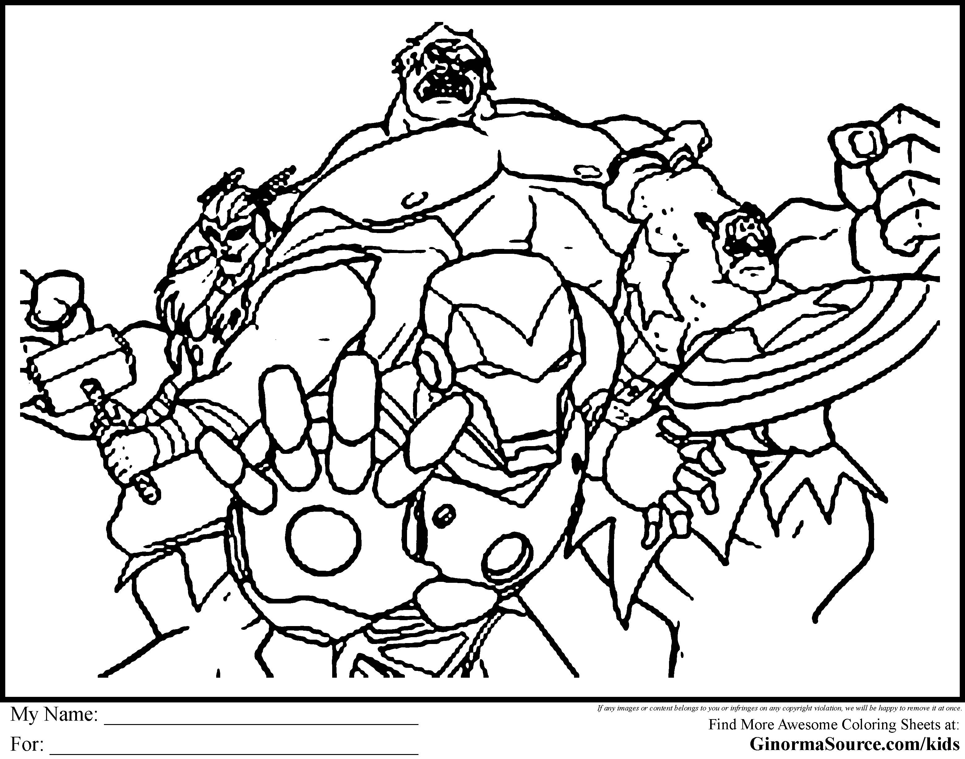 free alphabet coloring pages - avengers coloring pages to print