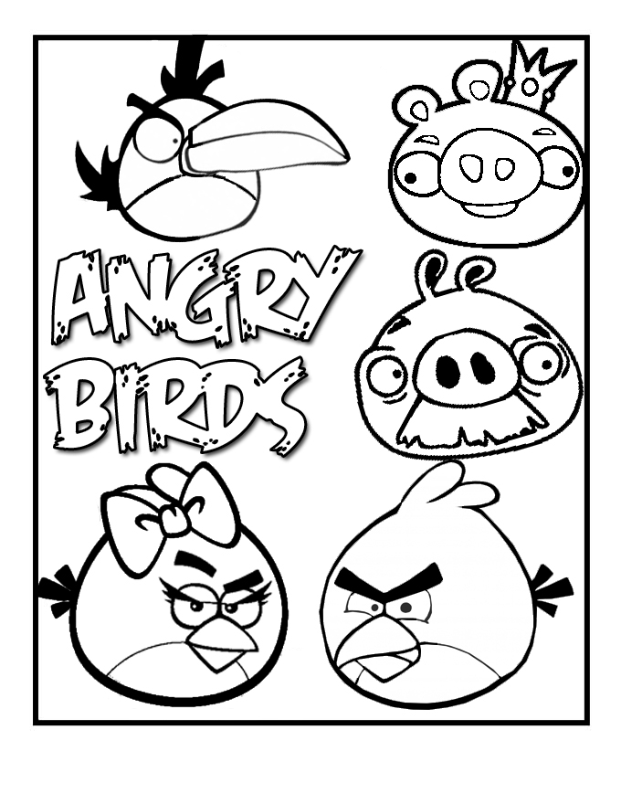 free bird coloring pages - angry birds coloring pages