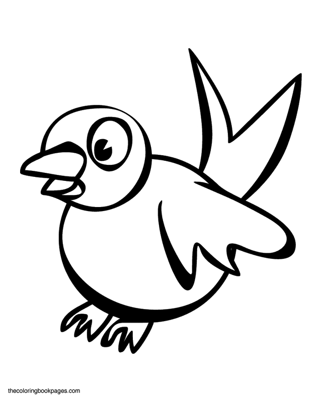 Free Bird Coloring Pages - Cartoon Bird Coloring Pages Free Printable Coloring