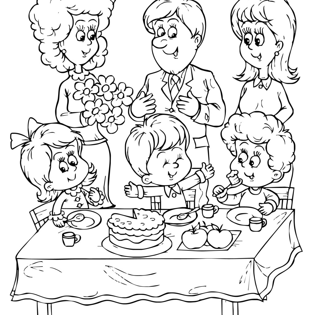 Free Birthday Coloring Pages - Birthday Party Coloring Pages