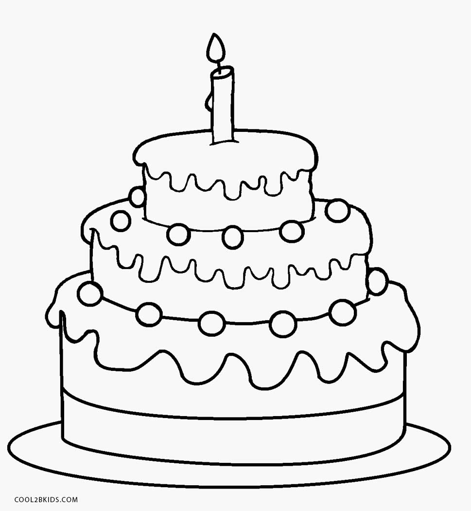 birthday cake coloring pages preschool - 23 free birthday coloring pages pictures free coloring