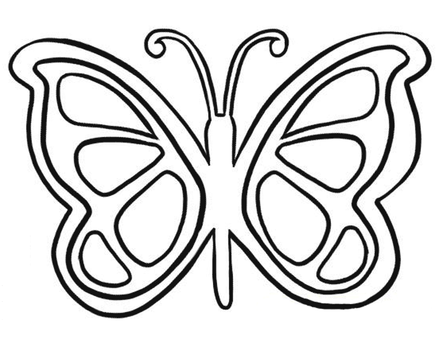 free butterfly coloring pages -