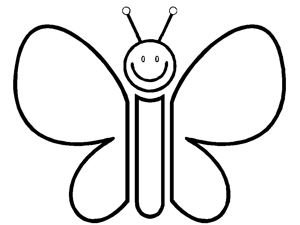 free butterfly coloring pages - cartoon monarch butterfly