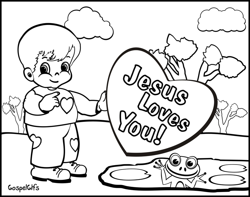 Free Christian Coloring Pages - Christian Coloring Page Coloring Home