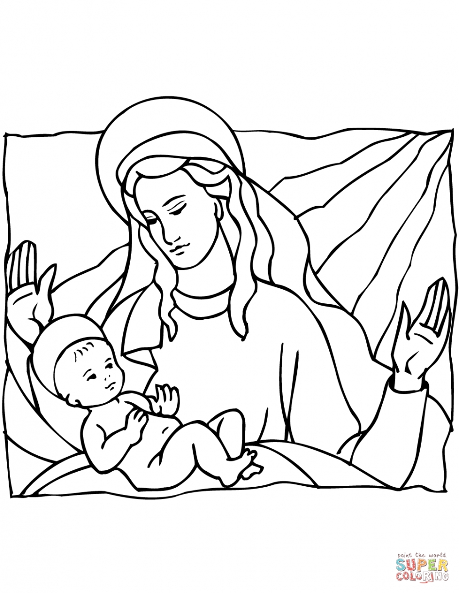 free christian coloring pages - christian christmas coloring page