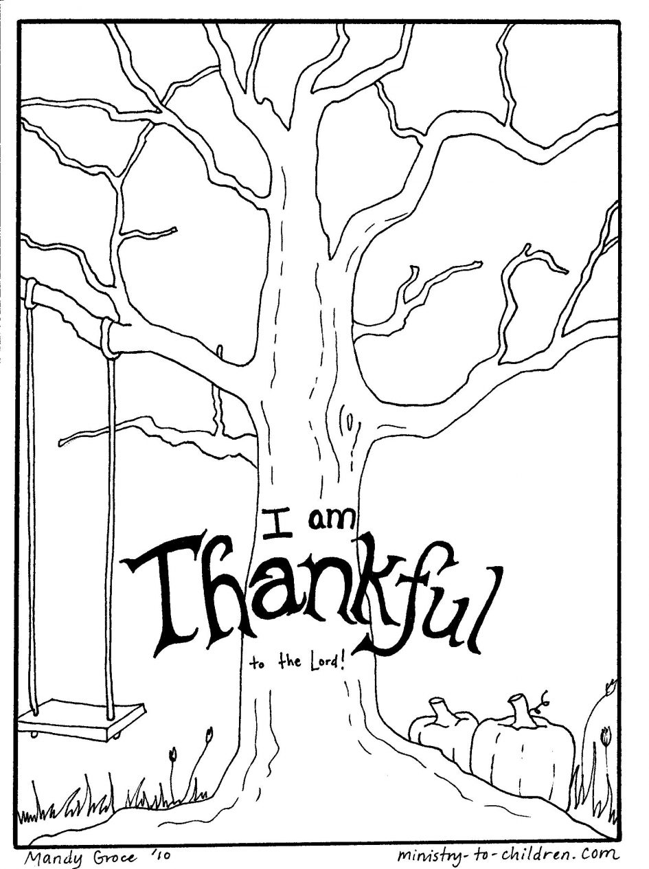 free christian coloring pages - thanksgiving christian coloring pages