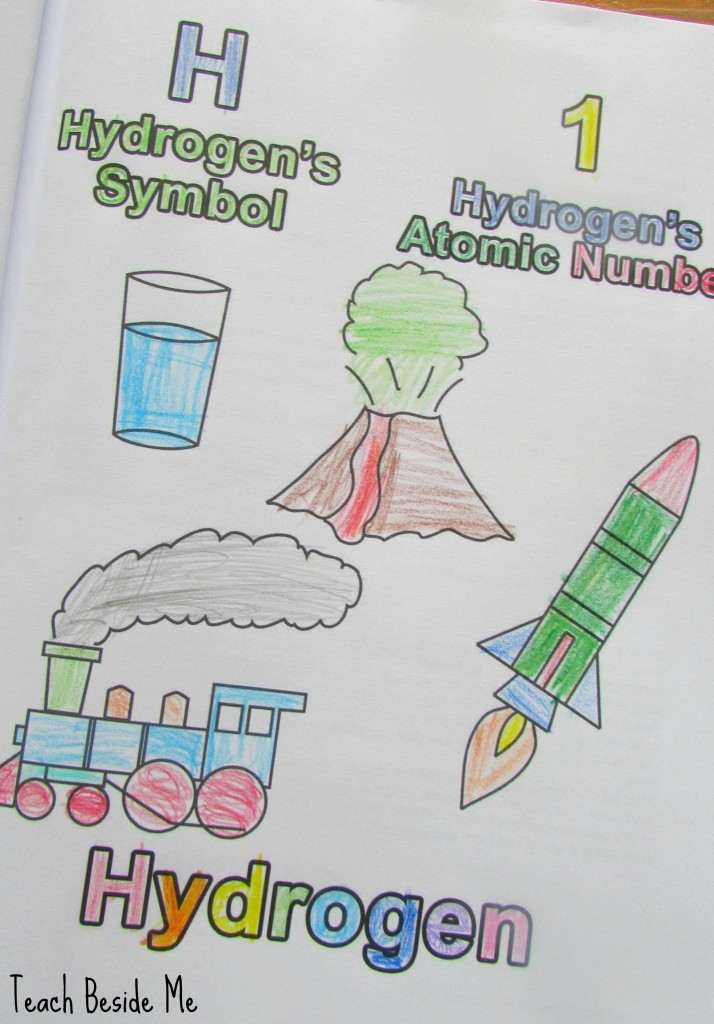 free color by number pages - learning the periodic table