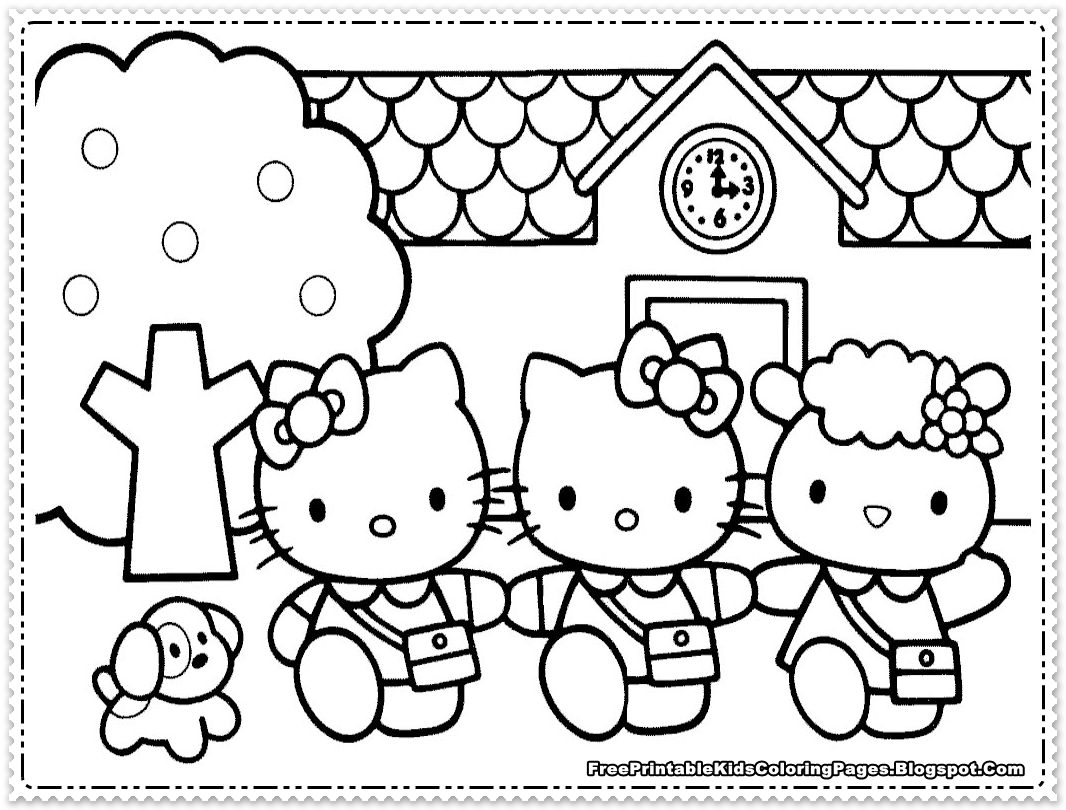 free coloring pages for girls - hello kitty coloring pages for girls