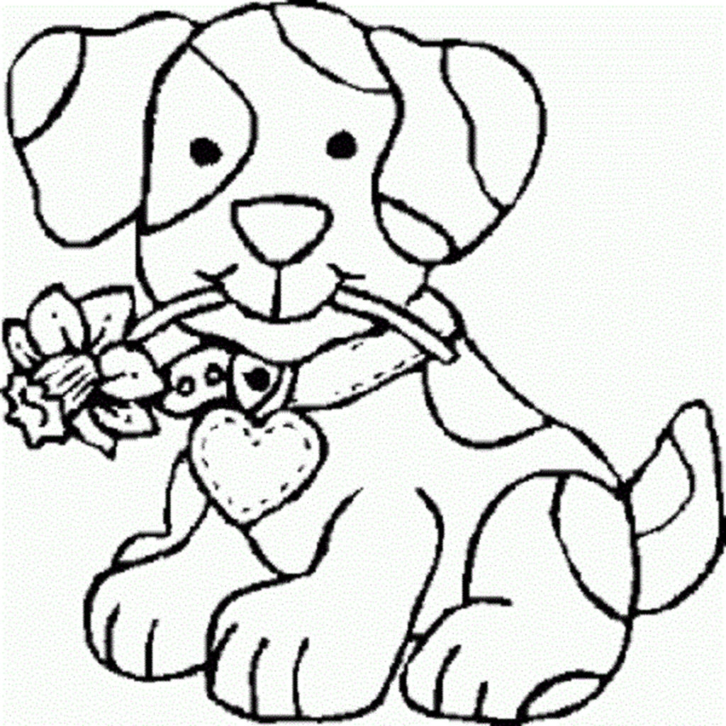 free coloring pages - free coloring pages of girl puppy