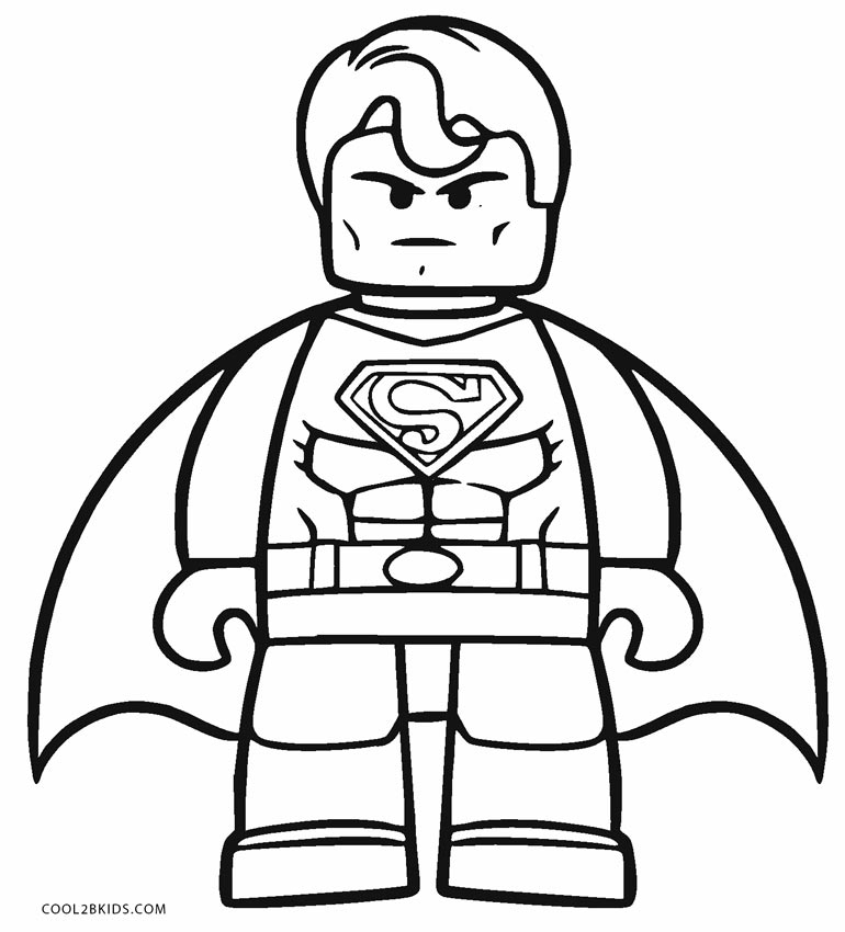 free coloring pages - superman coloring pages