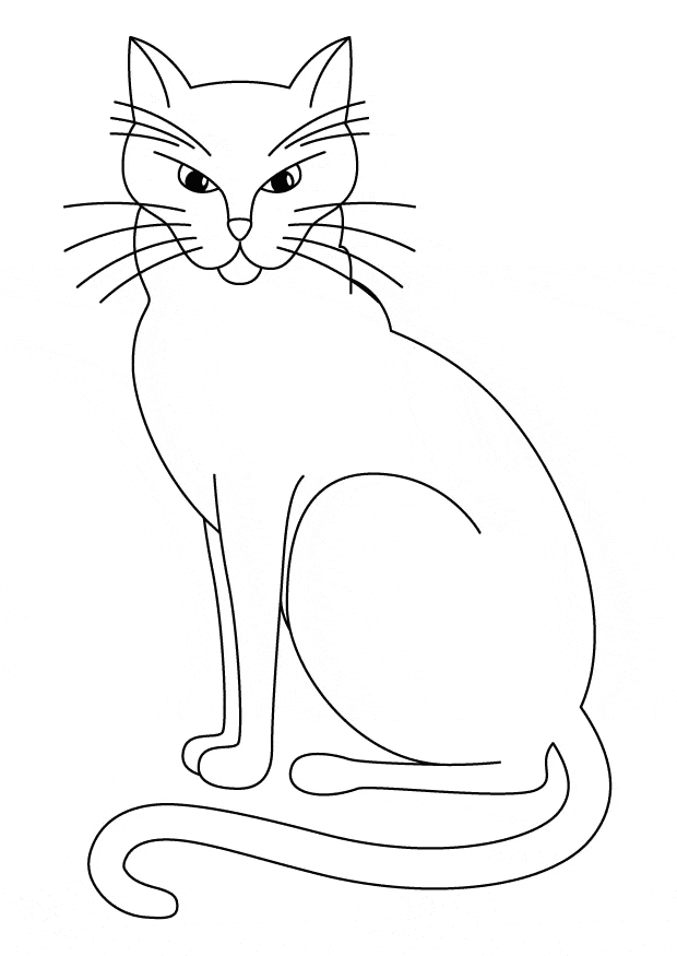 free coloring pages to print - cat coloring 01