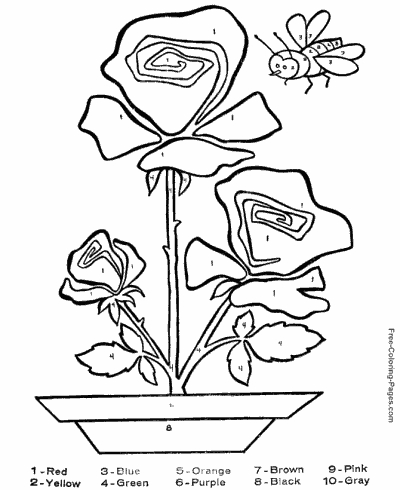 free coloring pages to print - color numbers 3