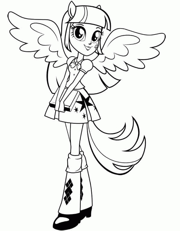free coloring pages to print - my little pony equestria girl coloring pages