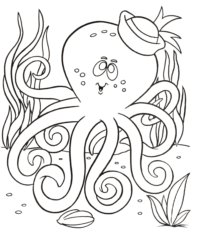 free coloring pages to print - octopus coloring 03