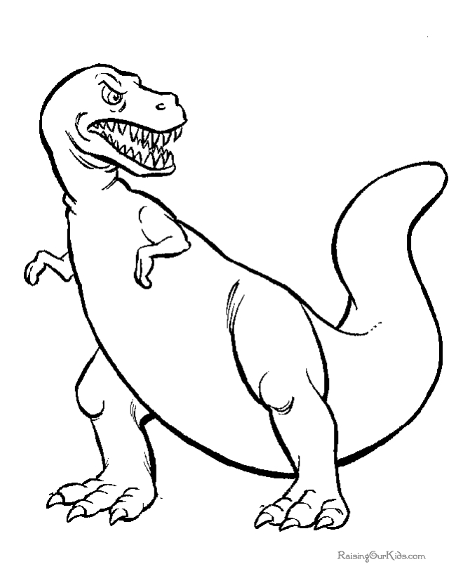 free dinosaur coloring pages - 008 tyrannosaurus coloring page