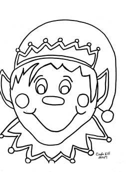 free disney princess coloring pages - christmas elf coloring pages