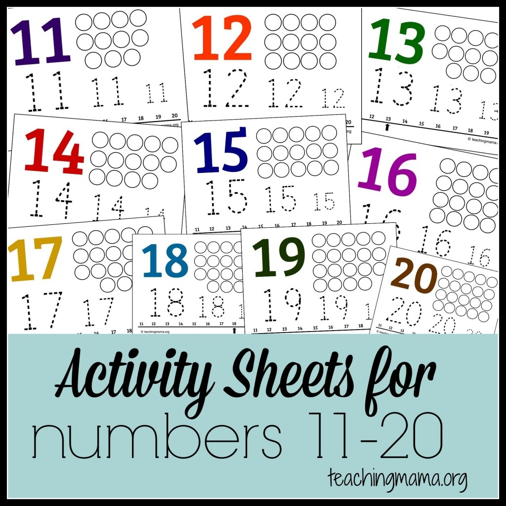 free dot marker coloring pages - activities for numbers 11 20